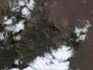 gunung Baluran, dari Google Earth